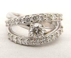 【大幅値下げ致しました!!】Pt900 プラチナ900 指輪 ダイヤモンド 0.338ct・0.70ct ノーブランド リング【中古】【程度A】