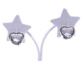Tiffany&Co ティファニー 925 SV シルバーピアス オープンハート【中古】【程度A】【美品】