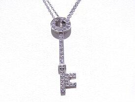 ティファニー TIFFANY&CO オーバルキー ネックレス ペンダント Pt950 プラチナ ダイヤモンド【中古】【程度A】【美品】