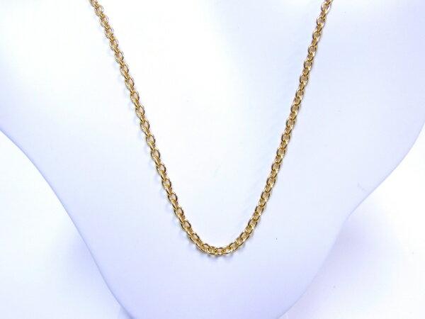 【中古】【程度A】【美品】Cartier カルティエ チェーンネックレス750 K18 YG イエローゴールド