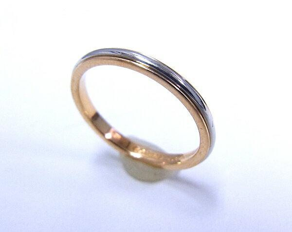 【中古】【程度A】【極上美品】ティファニー TIFFANY&Co. Pt950 プラチナ 750 K18 PG ピンクゴールド ルシダバンドリング #7 デザインリング 指輪