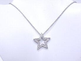 ティファニー TIFFANY&CO スターネックレス ダイヤモンド プラチナ950 Pt950 星型【中古】【程度A】【美品】