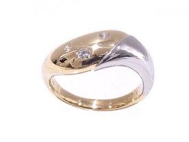 750YG/Pt900 イエローゴールド/プラチナPOLA ポーラ ダイヤモンド D0.06ct指輪 ファッションリング コンビ【中古】【程度A】【美品】