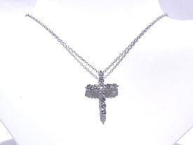 ティファニー TIFFANY&CO クロスネックレスPt950 プラチナ ダイヤモンド【中古】【程度A+】【極上美品】