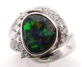 【大幅値下げ致しました!!】指輪 Pt900  オパールリングダイヤモンド入り【中古】【程度B】【質屋出品】【ノーブランド】
