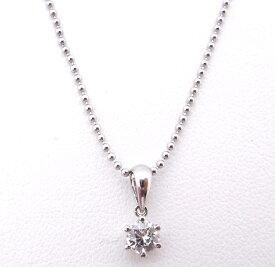 【大幅値下げ致しました!!】Pt850/900 プラチナ ネックレス1粒ダイヤモンド 0.273ct【中古】【程度A】【ノーブランド】