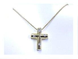 【中古】【程度A】【美品】ティファニー TIFFANY&CO 750YG イエローゴールドダイヤモンド 4石ネックレス ドッツクロス