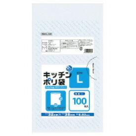 オルディ プラスプラスキッチンポリ袋(透明) L 320×380×0.02mm 100枚 (PKP-L-100)