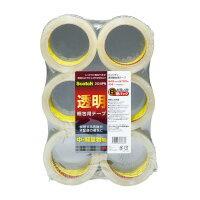 スリーエム ジャパン 透明梱包用テープ 48mm×50m 6巻入 (313-6PN)