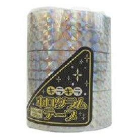エヒメ紙工 ホログラムテープ 銀 幅20mm×約20m (HOT-S)