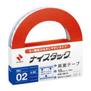 ニチバン はく離紙がはがしやすい両面テープ 1巻 15mm×18m (NW-DE15)