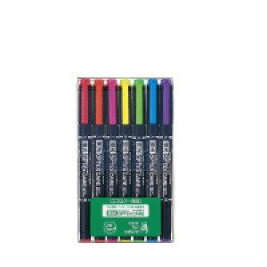 ゼブラ 蛍光オプテックス ケア(7色セット) 7本セット 5色セット+赤・紫 (WKCR1-7C)