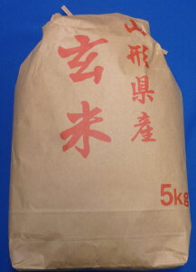 【送料無料】1年産山形県産コシヒカリ玄米5kg【沖縄離島別途1000円加算】