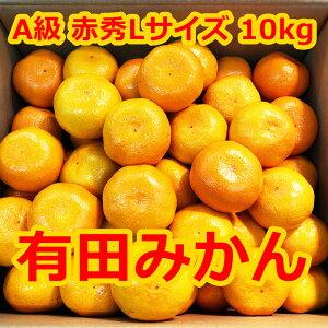 有田みかん 10kg 【A級】赤秀Lサイズ 和歌山ミカン 美味しいみかん 10キロ 和歌山県産ミカン