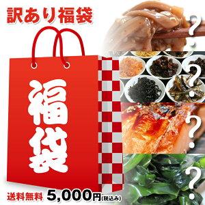 【送料無料】訳あり 5,000円福袋 福箱 冷凍保存できる わけあり福袋 干物、漬け魚、佃煮、たらこ、珍味等々