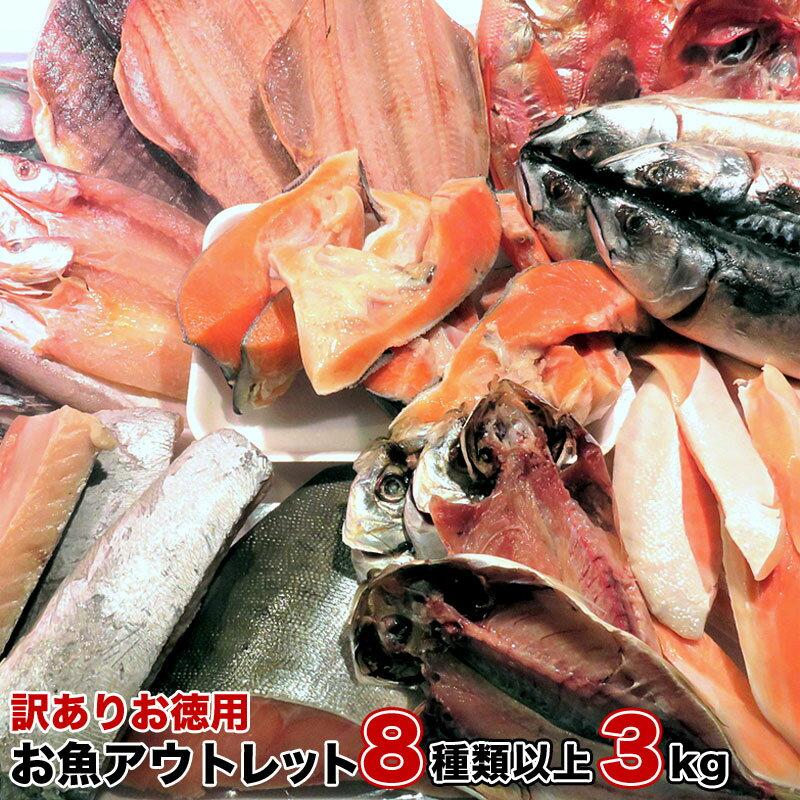【訳ありお徳用】お魚アウトレット 8種類以上 3kg以上 送料無料 お酒のあてに最高 BBQ ごはんのお供 訳アリ干物 訳あり魚の切り身