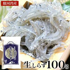 【駿河湾産しらす2021年新物入荷】生しらす 100g 天然無添加 鮮度抜群 美味しい生シラス おつまみ 生しらす丼 酒のさかな