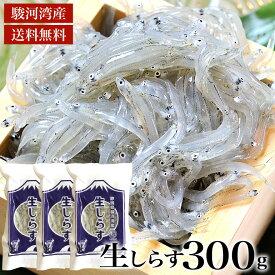【駿河湾産しらす2020年新物入荷】生しらす 300g 天然無添加 鮮度抜群 美味しい生シラス おつまみ 生しらす丼 酒のさかな