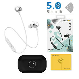 【当店5%クーポン発行中】Bluetooth 5.0 IPX5防水 Bluetooth イヤホン 高音質 Tuddrom ブルートゥース CVC6.0ノイズキャンセリング マグネット搭載 10時間連続再生 マイク付き ハンズフリー通話 ステレオ ワイヤレスイヤホン Bluetooth ヘッドホン iPhone &Android