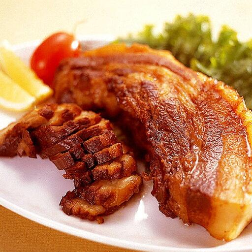 NHKおはよう日本で話題!!国産手作り焼豚バラ肉セット〜バラ肉255g×5+モモ肉×1+うどん×4〜