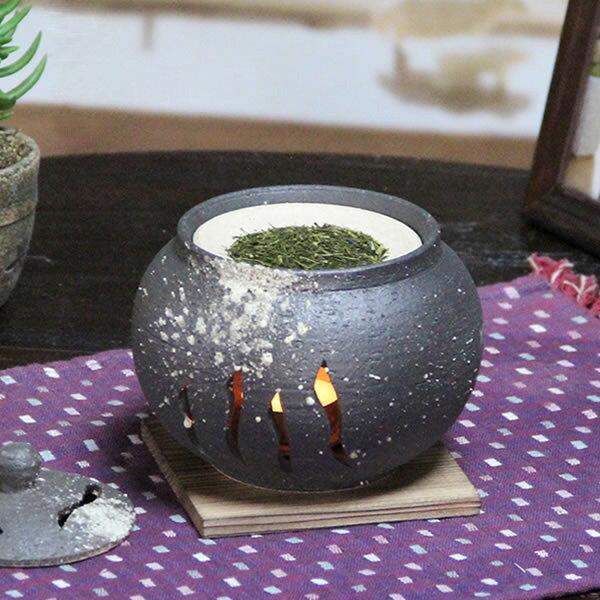 【 ポイント10倍 】茶香炉 陶器茶香炉 陶器アロマ 茶 しがらき 焼き物 信楽焼 火 キャンドル 茶こうろ 香炉 ギフト ty-0002
