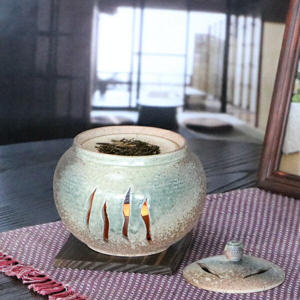 【 ポイント10倍 】茶香炉 陶器茶香炉 陶器アロマ 茶 しがらき 焼き物 信楽焼 火 キャンドル 茶こうろ 香炉 ギフト ty-0013