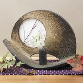 信楽焼 名月一輪差し 癒しを感じさせる土味の壷 つぼ 花瓶 花器 陶器 花入れ 一輪挿し しがらき 陶器 インテリア やきもの 焼き物 ha-0171