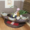 Shin raku pottery boat-shaped vase! And small flower, vase, vase, porcelain, vase / vases / / feel the healing pottery jar / vase while big / pottery / ceramics / Interior / and when [ha-0206]
