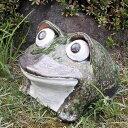 信楽焼き10号丸目蛙!縁起物カエル/お庭に玄関先に陶器蛙!やきもの/陶器/しがらきやき/蛙/陶器かえる/信楽焼カエル/[ka-0040]