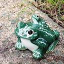 信楽焼5号青蛙!縁起物カエル/お庭に玄関先に陶器蛙!やきもの/陶器/しがらきやき/蛙/陶器かえる/信楽焼カエル/[ka-0051]