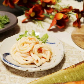 信楽焼 小皿 皿 和食器 盛り付け 陶器 取り皿 青丸紋小皿 w321-09