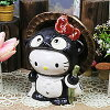 Hello Kitty raccoon (small) Shinshu Raku Tanuki pottery raccoon figurine / or kimono / and while big Shine / pottery / Tanuki pottery Kitty-Chan [ta-0151]