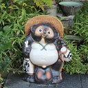 信楽焼 25号福ひねり狸 信楽焼たぬき 縁起物のタヌキ 陶器タヌキ たぬき置物 やきもの しがらきやき 焼き物 狸 タヌキ 信楽 狸 大たぬ…