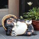 【 28時間限定!! ポイント20倍 】信楽焼 11号ごろ寝たぬき 信楽焼たぬき縁起物タヌキ 陶器タヌキ たぬき置物 やきもの しがらきやき 焼き物 狸 タヌキ 信楽 たぬき ta-0046 お買い物マラソン