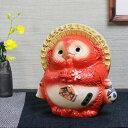 送料無料 風水狸(赤色) 仕事運、恋愛運にご利益あり 縁起物 信楽焼たぬき 狸 陶器狸 タヌキ置物 やきもの 焼き物 たぬ…