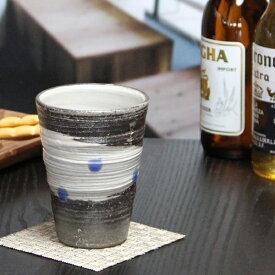 信楽焼 フリーカップ 天の川(青)フリーカップ ビアカップ 土ものカップ 陶器ビアカップ ビアグラス やきもの 信楽 コップ 器 焼き物 タンブラー ビアマグ 食器 w901-09