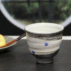 信楽焼 ゆのみ 天の川(青)湯呑 土もの湯のみ茶碗 陶器コップ 湯呑み やきもの 信楽 汲出し 食器器 焼き物 汲み出し茶碗 しがらき うつわ w913-13