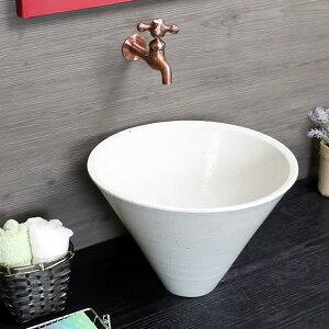 洗面ボウル 洗面ボール 手洗い鉢 陶器 洗面台 洗面化粧台 洗面ボウル セット 和風 白 ホワイト 信楽焼 手洗い器 手洗器 洗面鉢 陶器 おしゃれ 白色 深型 ソリ型 tr-2256