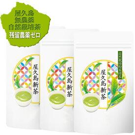 水だし冷温共用《私たちが作った無農薬屋久島一番茶粉末緑茶です》パウダーティー100g×3袋