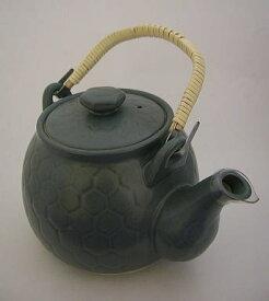 高級耐熱 亀甲土瓶(緑色) きっこうどびん キッコウドビン 小サイズ