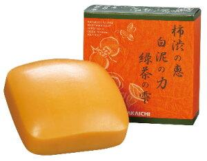 柿渋の恵・白泥の力・緑茶の雫柿渋緑茶石鹸 クリアボディソープ 100g