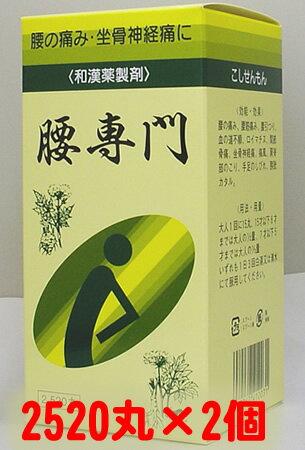 【第2類医薬品】天恵堂製薬 腰専門[ こしせんもん/コシセンモン ] 2520丸×2個