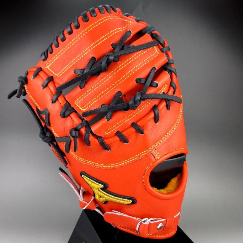 ポイント10倍【送料無料】 2016年モデル BSSショップ限定 ミズノ MIZUNO 一般硬式一塁手用 左投げ ミズノプロ スピードドライブテクノロジー 1AJFH14020 52H:スプレンディッドオレンジ