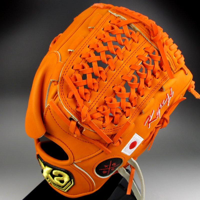 【送料無料】 2015年モデル ザナックス XANAX 一般軟式投手用 プロモデル 藤川モデル BRG-KJ113 オレンジ(20) 右投げ