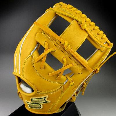 【送料無料】2016年モデルエスエスケイSSK硬式グラブ内野手用右投げプロブレインProbrainPHX66(46)ターメリックタン