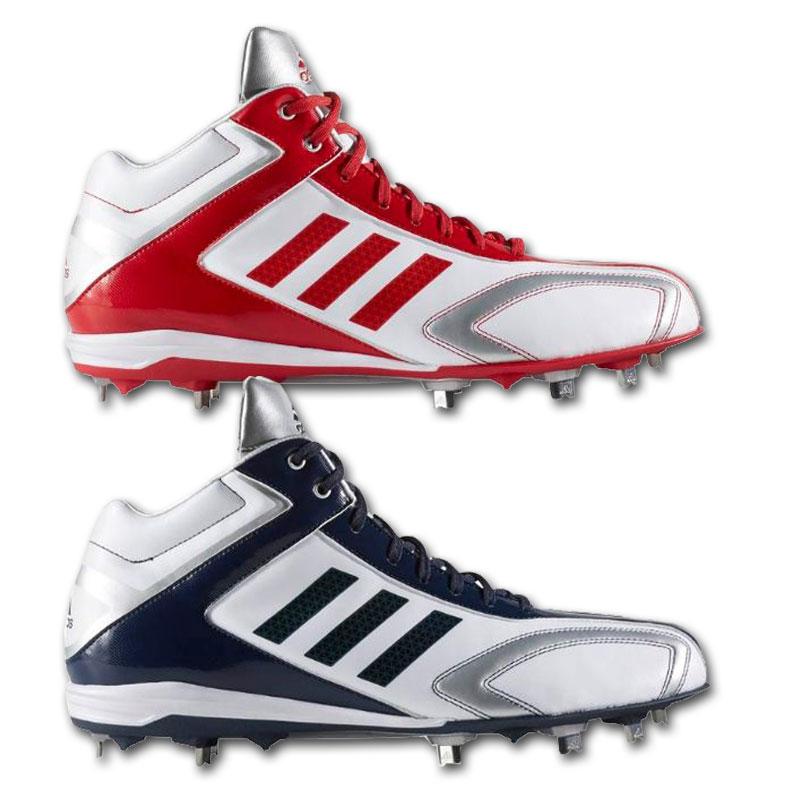 2017年モデル アディダス Adidas 野球スパイク 金具埋込み式 P革取り付け不可 アディピュアT3 MID AQ8340 AQ8341 2色展開