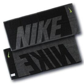 ナイキ NIKE ジャガード タオル ミディアム 35cm×80cm TW2514 (063)ダークグレー/ブラック