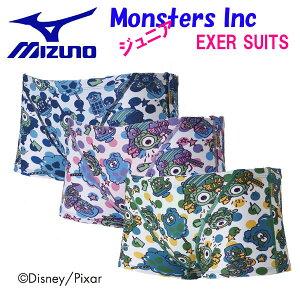 MIZUNO ミズノスイム ジュニア トレーニング水着 ショートスパッツ Monsters Inc N2MB8981【TOKKA】【18FWM】 競泳水着 練習用 子供用男の子 長持ち 練習用【Disney】