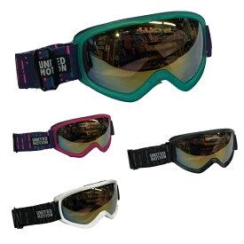 SNB 子供用スキーゴーグル ダブルレンズ ミラーレンズ UVカット 眼鏡対応 キッズ ジュニア