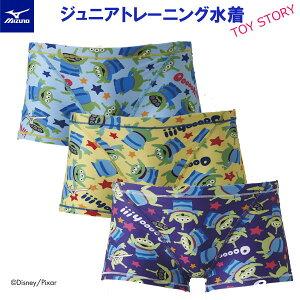 ミズノスイム ジュニア トレーニング水着 ショートスパッツ TOY STORY N2MB9980【TOKKA】【19FWM】 競泳水着 練習用 子供用男の子 長持ち 練習用【Disney】